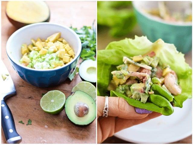 Shrimp Coconut Lettuce Wraps