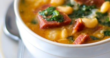 Chourico & Spinach White Bean Stew