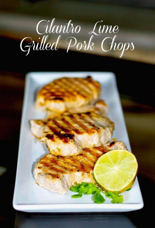 Boneless, center cut pork chops marinated in a brine of fresh lime juice and cilantro; then grilled to perfection.