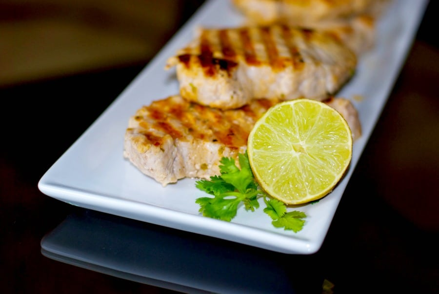 Lime and Cilantro Grilled Pork Chops