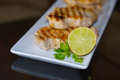 Pork Chops with Lime & Cilantro | Carrie's Experimental Kitchen #pork #grilling