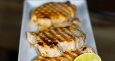 Grilled Pork Chops with Lime and Cilantro