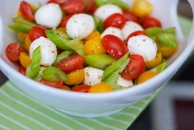 Mediterranean Tomato, Mozzarella & Celery Salad