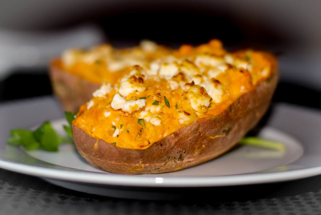 My Big Fat Greek Sweet Potato-Carrie's Experimental Kitchen #potato
