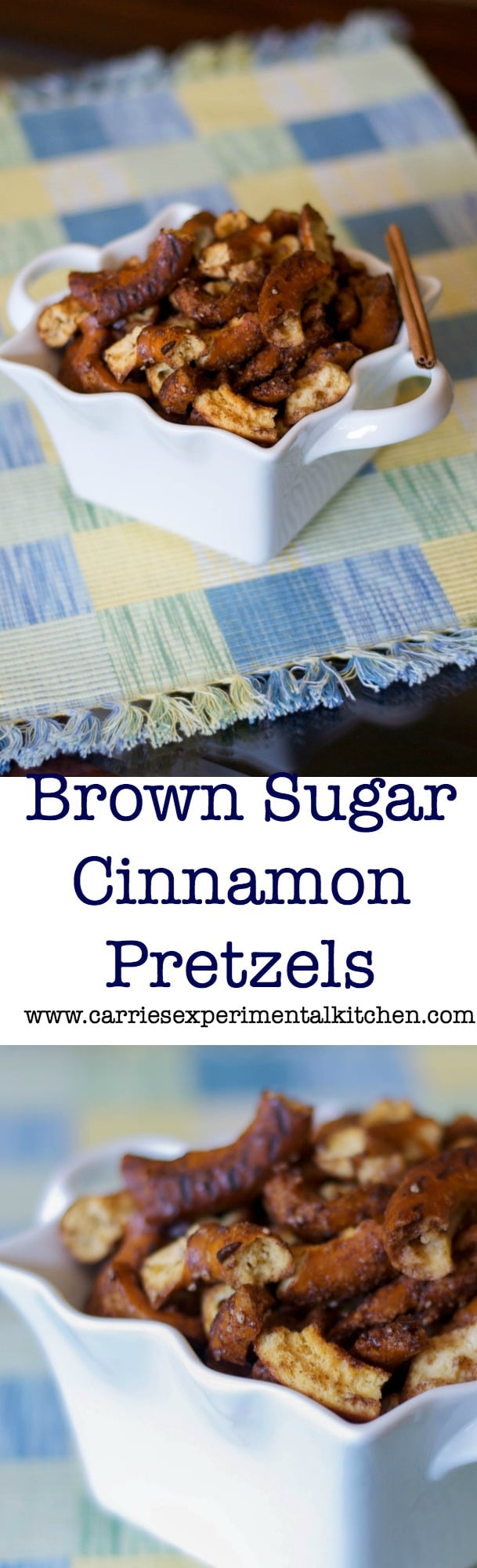 These Brown Sugar and Cinnamon Pretzels are so easy to make at home and have just the right amount of sweet to be called a dessert.