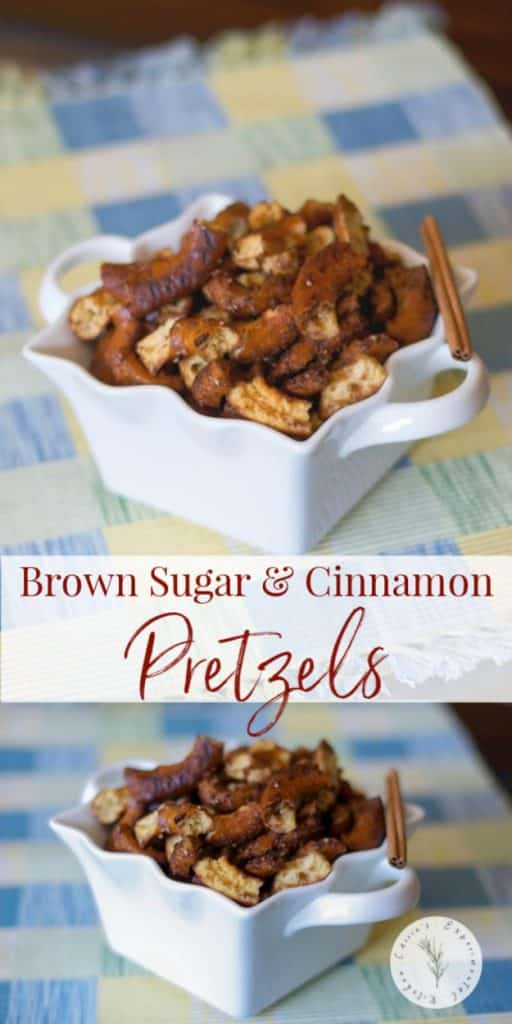 These Brown Sugar and Cinnamon Pretzels made with cinnamon brown sugar are so easy to make at home and are the perfect sweet and salty snack.