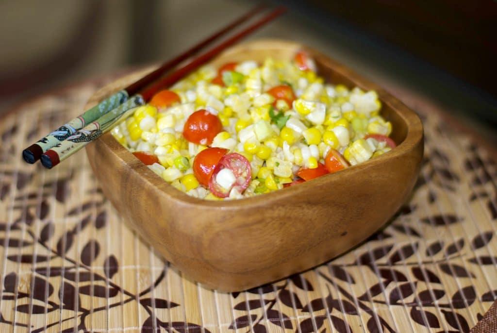 Corn Salad with Honey Wasabi Vinaigrette