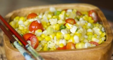 Corn Salad with Honey-Wasabi Vinaigrette