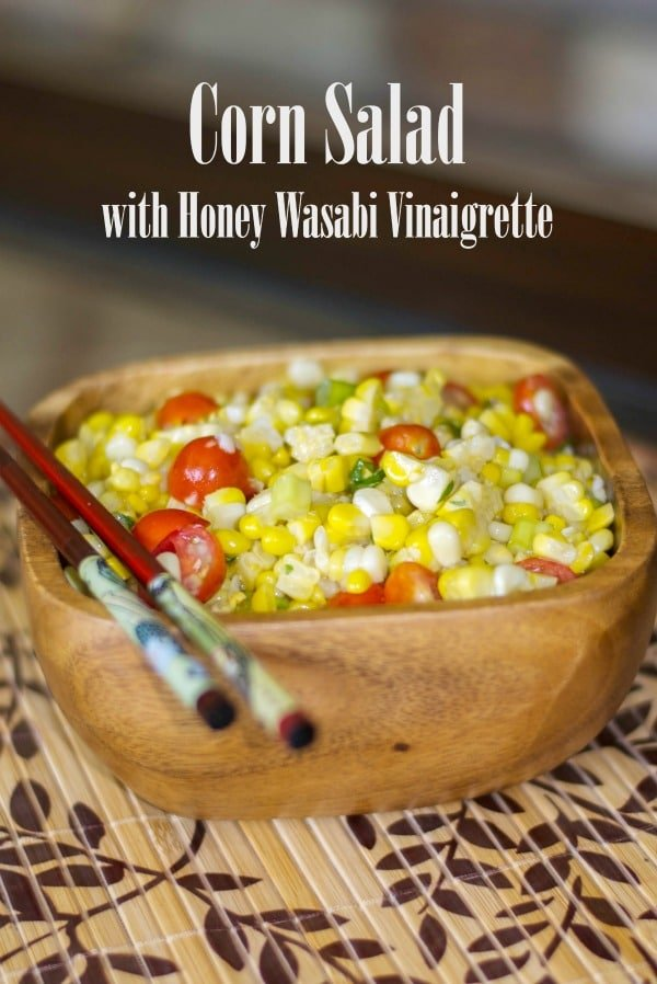 Utilize leftover corn on the cob by turning it into a salad with this Corn Salad with Honey Wasabi Vinaigrette. Perfect for lunch or dinner!