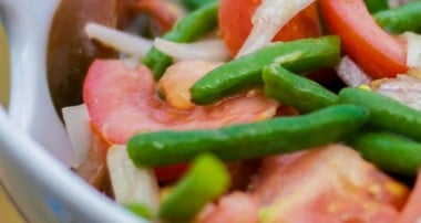 Green Bean & Tomato Salad with Ginger Wasabi Vinaigrette