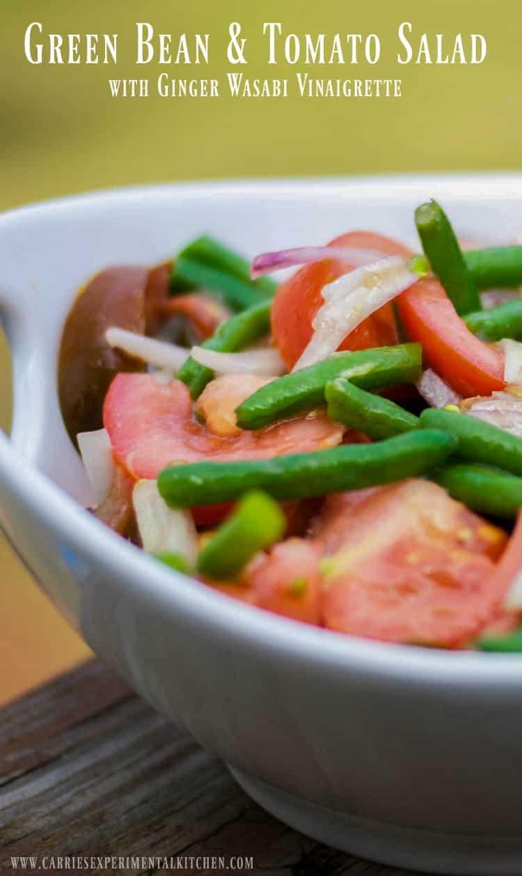 Green Bean & Tomato Salad with Ginger Wasabi Vinaigrette ...