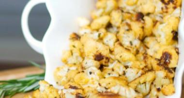 Paprika, Rosemary & Cheese Cauliflower Popcorn