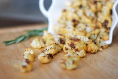 Paprika, Rosemary and Cheese Cauliflower Popcorn