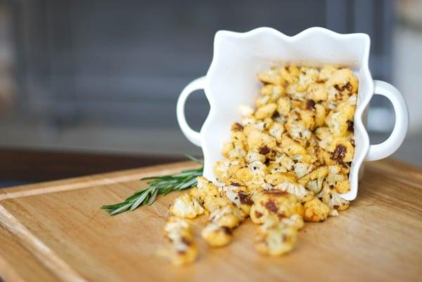 Paprika, Rosemary and Cheese Cauliflower Popcorn Horizontal