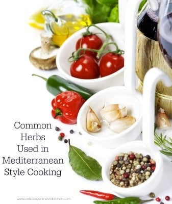 common herbs used in mediterranean style cooking-Carrie's Experimental Kitchen.jpg