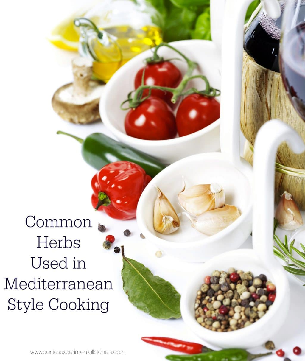 Common herbs used in mediterranean style cooking carrie for So cook cuisine