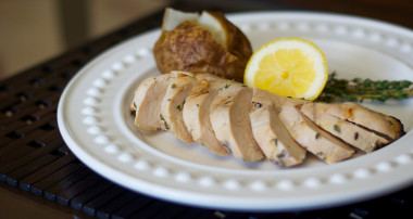 Lemon-Thyme Brined Grilled Chicken