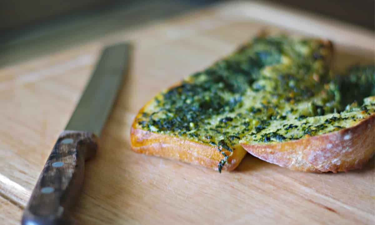 Garlic Basil Butter on Italian bread