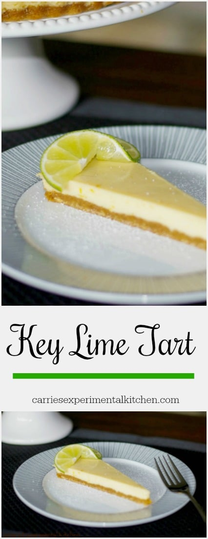 Key Lime Tart made with fresh Key lime juice with a graham cracker crust is so easy to make and is deliciously light and refreshing. #limes #dessert
