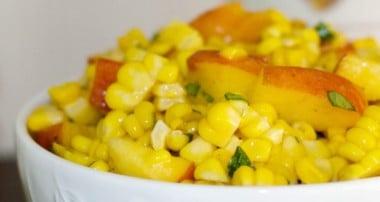 Corn & Peach Salad