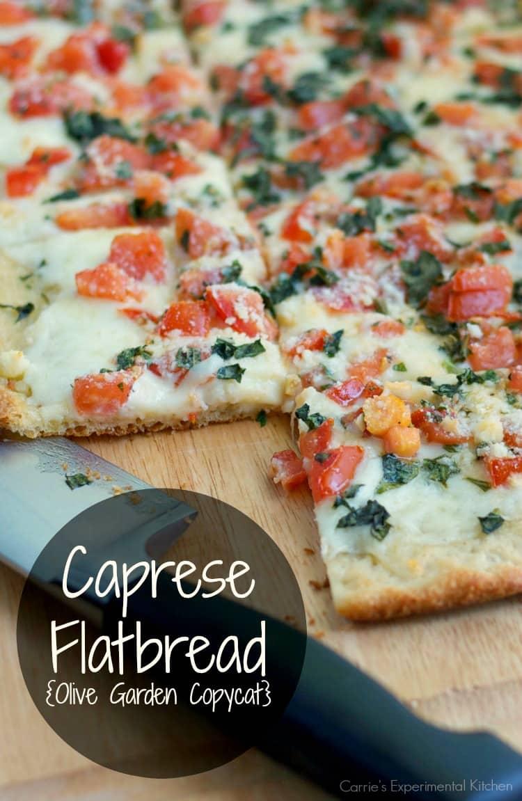 Caprese Flatbread Olive Garden Copycat