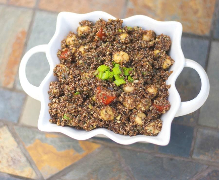 Pesto Chick Pea and Kaniwa Salad