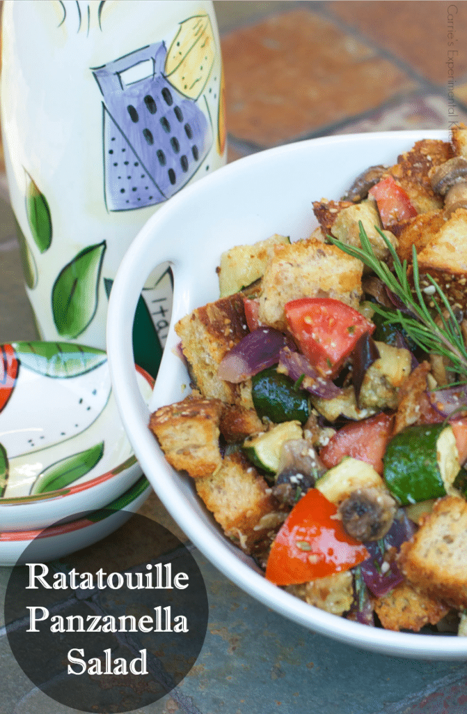 Ratatouille Panzanella Salad | Carrie's Experimental Kitchen