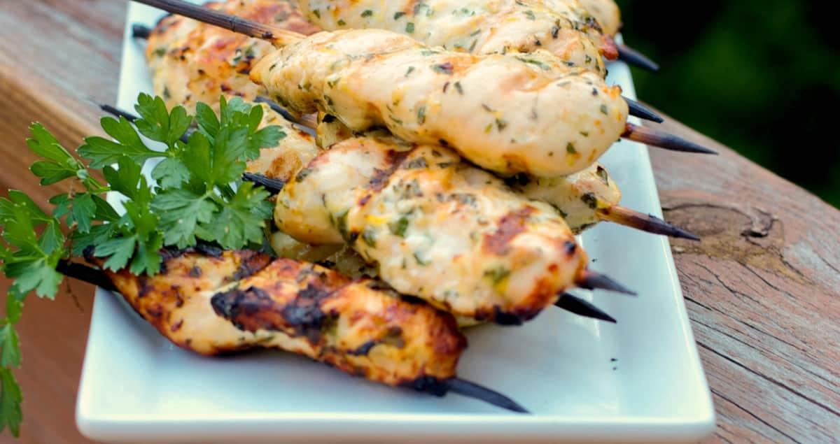 Gremolata Chicken Skewers