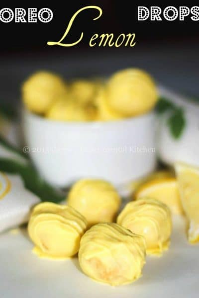 Oreo Lemon Drops are a delicious lemony dessert using Oreo Lemon Twist Oreo's, cream cheese and lemon extract.