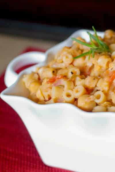 """Pasta e Ceci or pasta with beans, was considered a """"poor man's meal"""" in Italy as it combined simple, bountiful ingredients."""