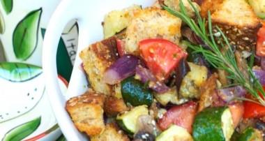 Ratatouille Panzanella Salad