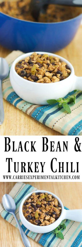 Black Bean & Turkey Chili made with lean ground turkey; then slowly ...