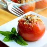 Gab's Caprese Shrimp Stuffed Tomatoes