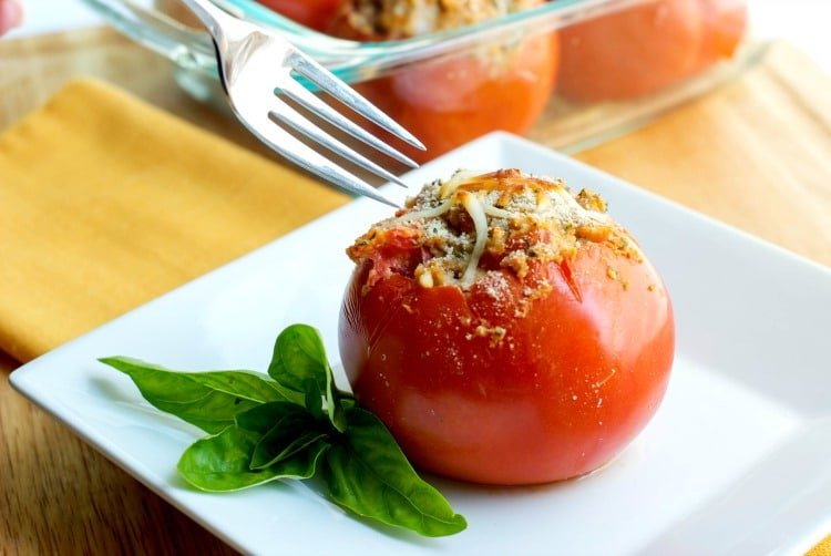 Gab's Caprese Shrimp Stuffed Tomatoes