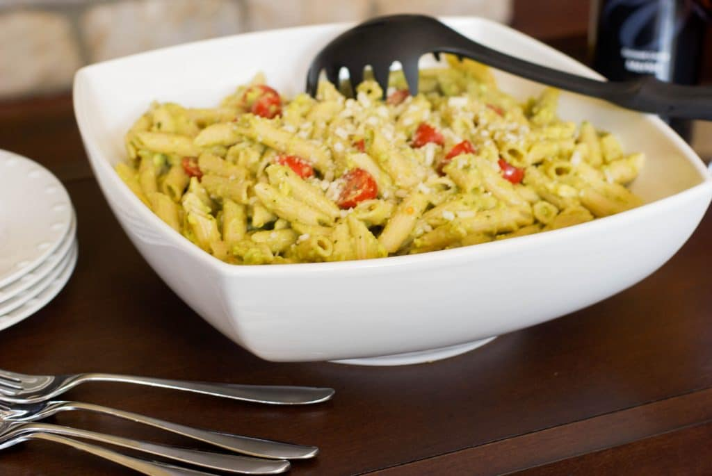 Penne with Avocado Pesto
