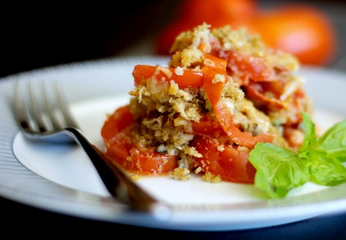 Tomato Gratin made with vine ripened tomatoes layered with garlic ...