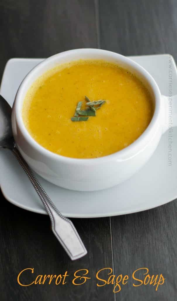 Carrot & Sage Soup | CarriesExperimentalKitchen.com
