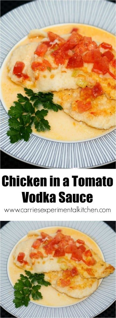 Chicken in a Tomato Vodka Sauce is delicious and quick to make. Perfect for date night or an easy weeknight supper!