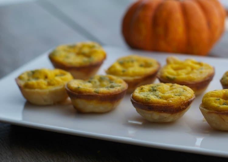 Pumpkin.& Brie Mini Quiche