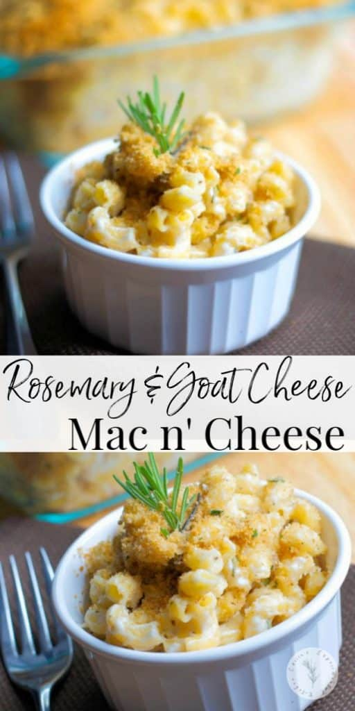 Macaroni and Cheese just took on a new level of maturity with this creamy version of Rosemary & Goat Cheese Mac n' Cheese.