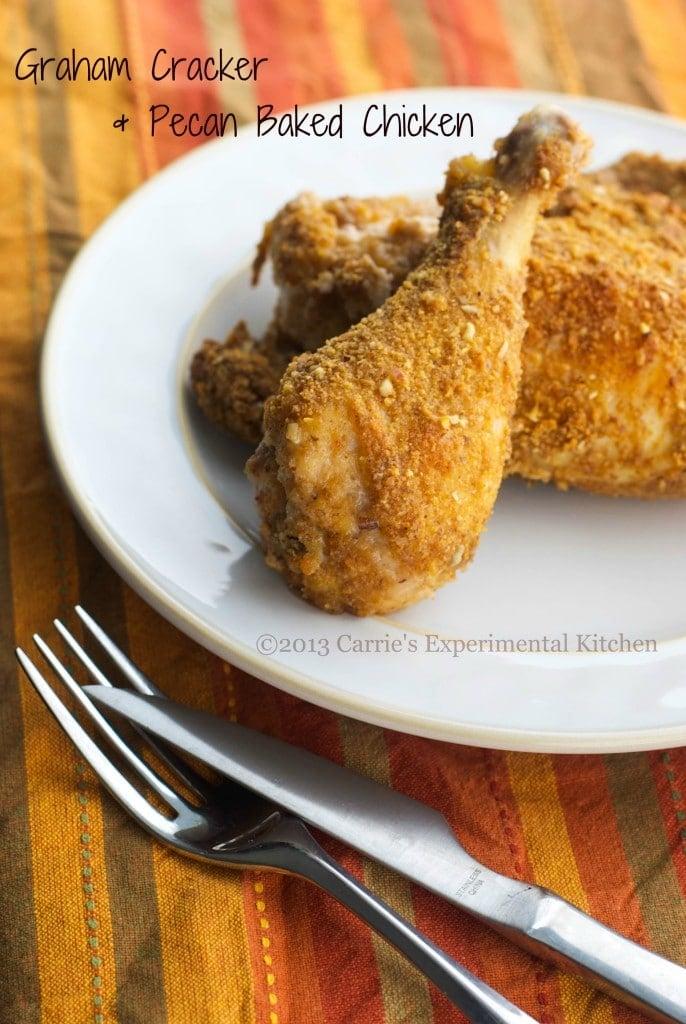 Graham Cracker & Pecan Baked Chicken