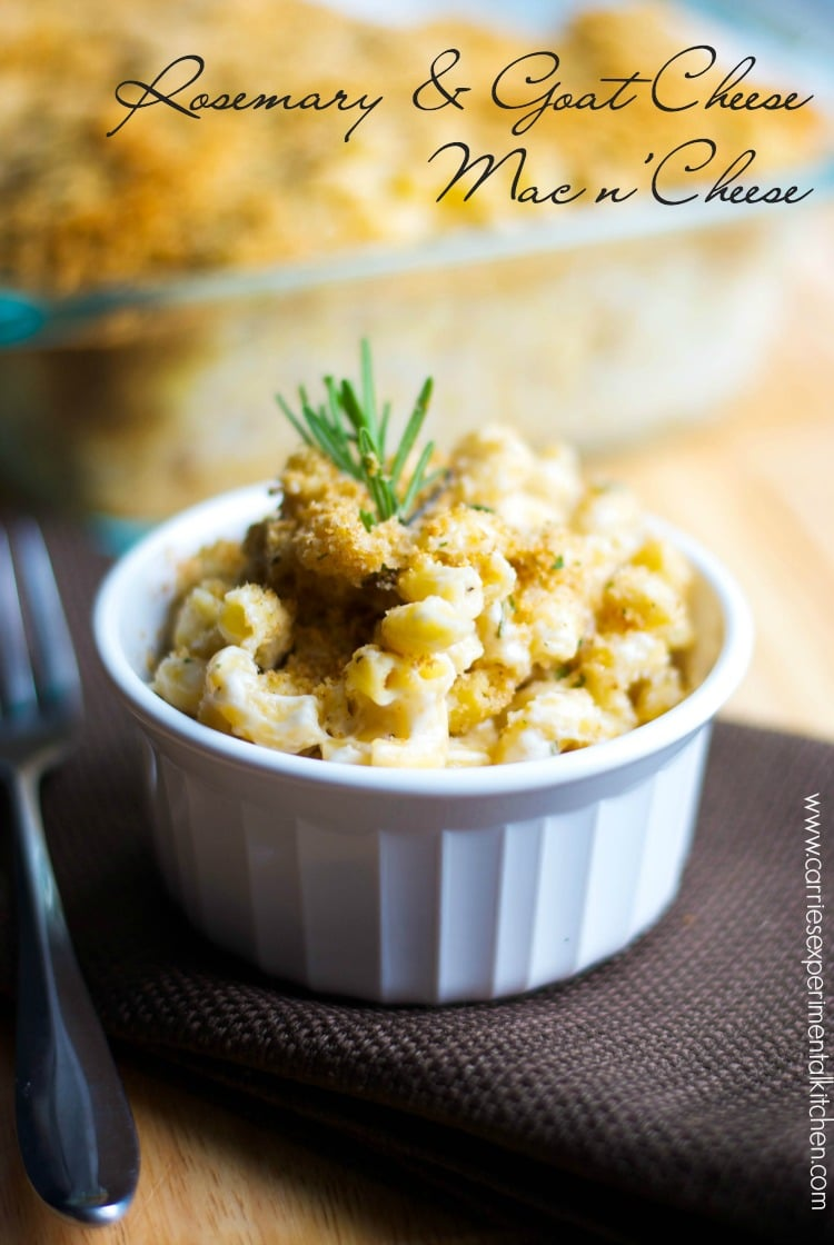Macaroni and Cheese just took on a new level of maturity with this creamy version of Rosemary & Goat Cheese Mac n' Cheese