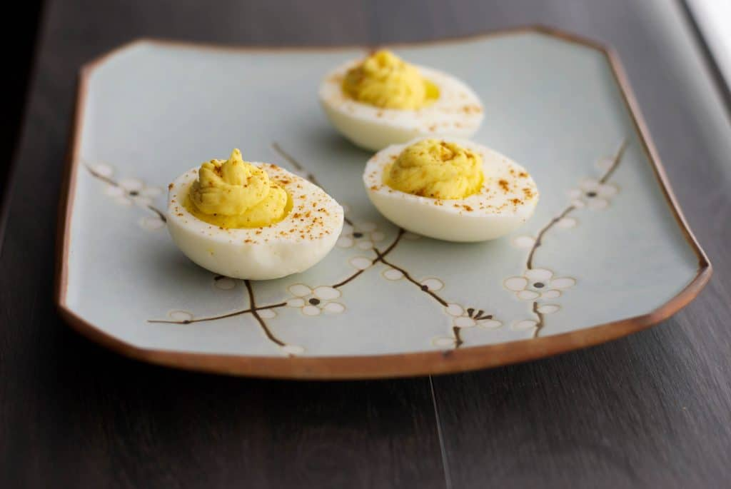 Turn up the Heat Deviled Eggs