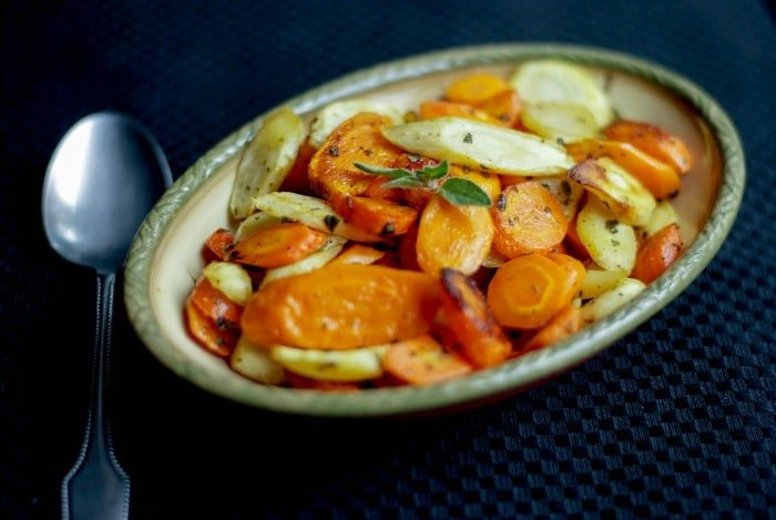 Butter Roasted Carrots & Parsnips with Oregano