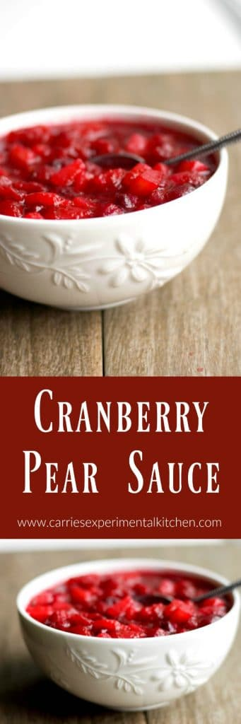 Cranberry Pear Sauce - Carrie's Experimental Kitchen