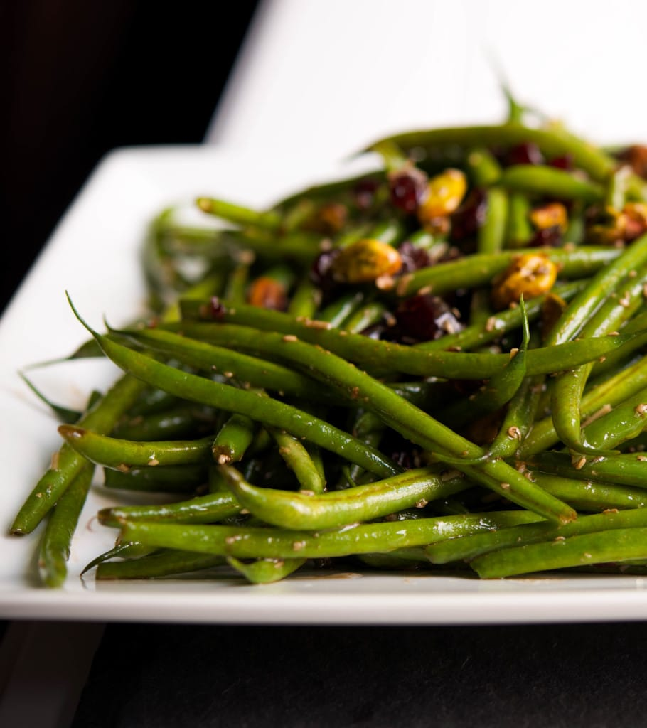 Haricot Verts with Feta, Cranberries & Pistachios - Carrie ...