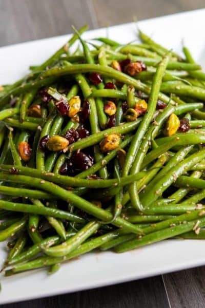 Haricot Verts Salad with Feta, Cranberries & Pistachios