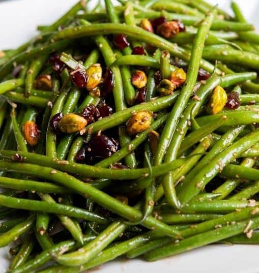 Haricot Verts Salad with Feta, Cranberries & Pistachios