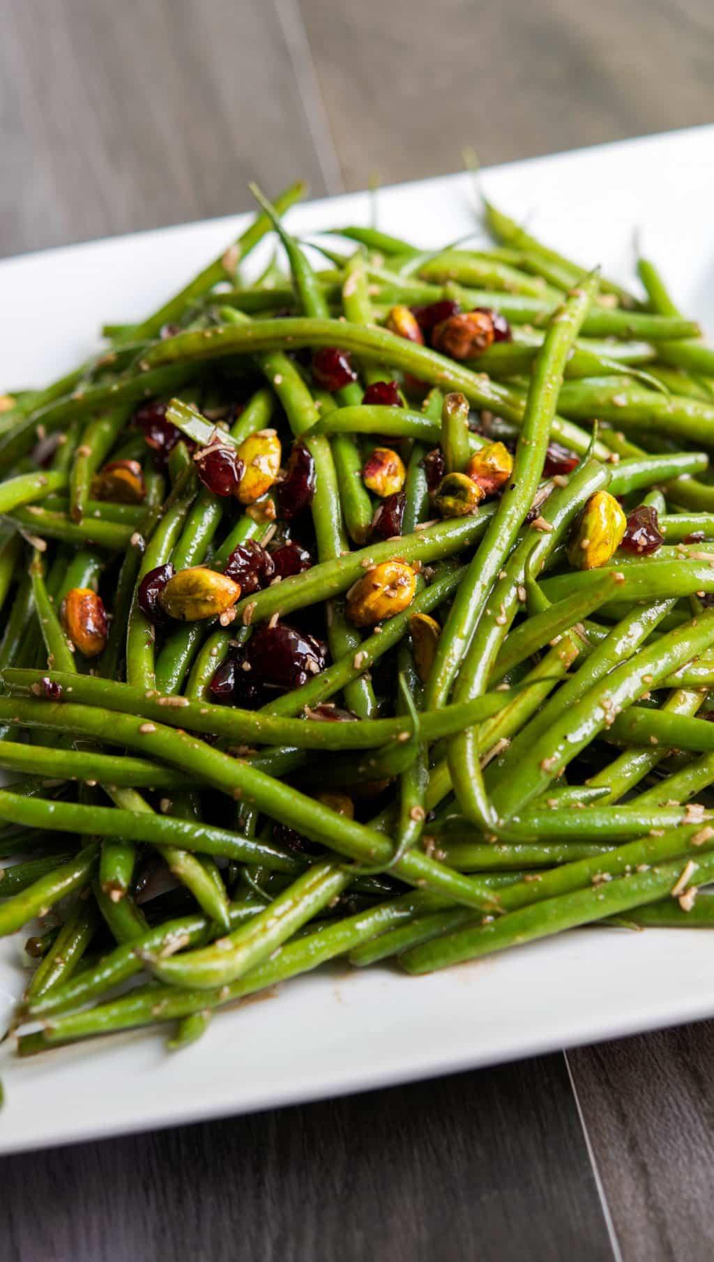 Haricot Vert Salad French Haricot Verts Salad Closeup
