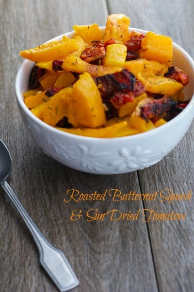 Roasted Butternut Squash with Sun Dried Tomatoes